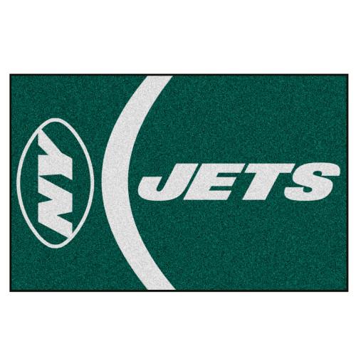 "19"" x 30"" Green and White NFL New York Jets Starter Rectangular Door Mat - IMAGE 1"