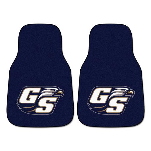 "Set of 2 Blue NCAA Georgia Southern University Eagles Front Carpet Car Mats 17"" x 27"" - IMAGE 1"