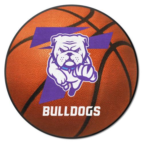 "27"" Brown and Purple NCAA Truman State University Bulldogs Basketball Shaped Mat Area Rug - IMAGE 1"