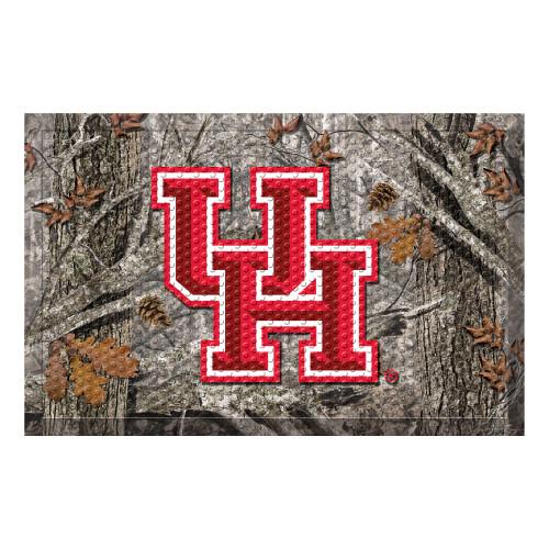 """19"""" x 30"""" Red and Gray NCAA University of Houston Cougars Shoe Scraper Door Mat - IMAGE 1"""