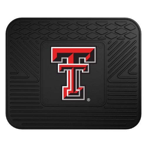 "14"" x 17"" Black NCAA Texas Tech University Red Raiders Heavy Duty Rear Car Seat Utility Mat - IMAGE 1"