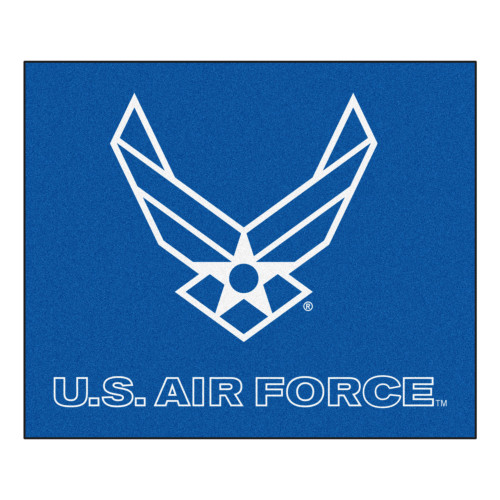 5' x 6' Blue and White Contemporary U.S. Air Force Rectangular Outdoor Area Rug - IMAGE 1