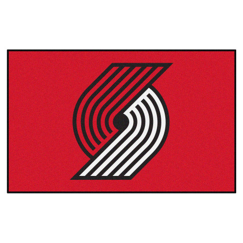"""59.5"""" x 94.5"""" Red and White NBA Portland Trail Blazers Ulti-Mat Rectangular Outdoor Area Rug - IMAGE 1"""