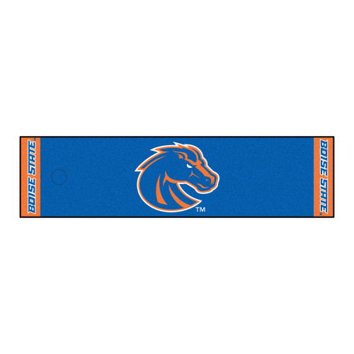 """18"""" x 72"""" Blue and Orange NCAA Boise State University Broncos Putting Welcome Door Mat - IMAGE 1"""