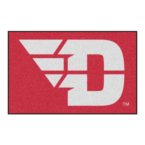 "19"" x 30"" Red and White NCAA University of Dayton Flyers Rectangular Starter Mat - IMAGE 1"