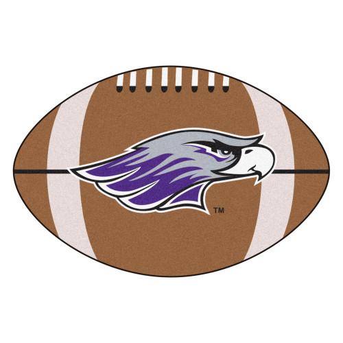 "20.5"" x 32.5"" Brown and Purple NCAA University of Wisconsin Whitewater Warhawks Football Mat - IMAGE 1"