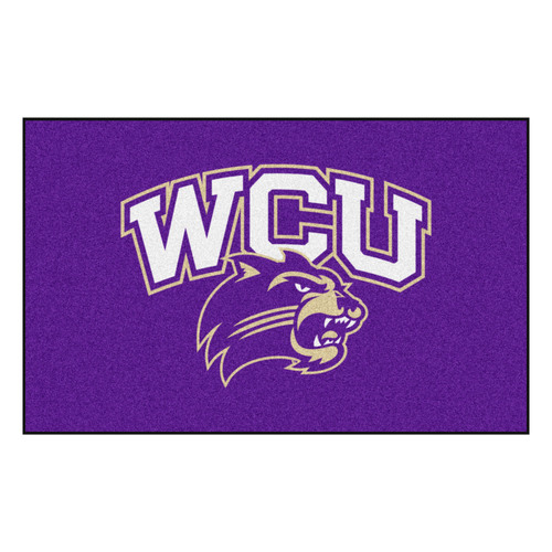 "59.5"" x 94.5"" Purple NCAA Western Carolina University Catamounts Ulti-Mat Rectangular Area Rug - IMAGE 1"