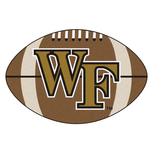 """20.5"""" x 32.5"""" Brown and White NCAA Wake Forest University Demon Deacons Football Mat - IMAGE 1"""