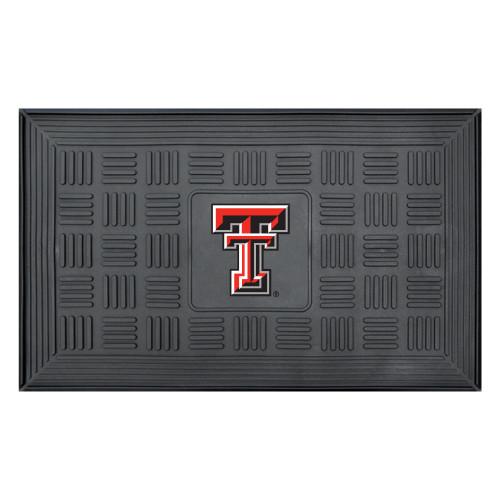 "19.5"" x 31.25"" Black and Red NCAA Texas Tech University Red Raiders Outdoor Door Mat - IMAGE 1"