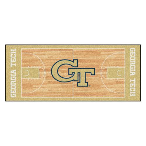 2.5' x 6' Beige NCAA Georgia Tech Yellow Jackets and Ramblin Wreck Mat Area Rug Runner - IMAGE 1