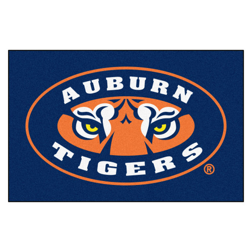 "19"" x 30"" Blue and Orange NCAA Auburn University Tigers Starter Rectangular Door Mat - IMAGE 1"