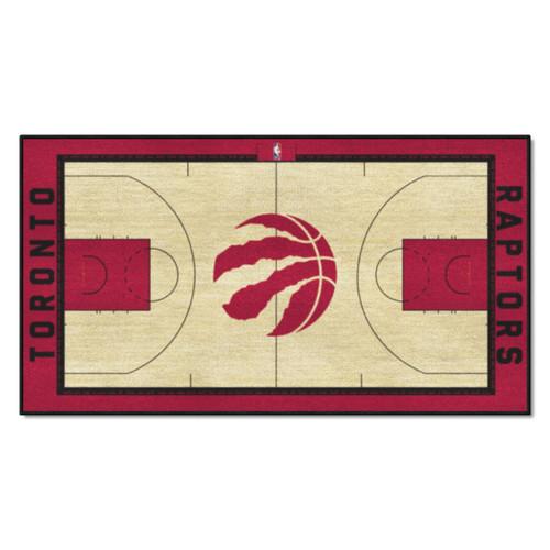 "24"" x 44"" Beige and Red NBA Toronto Raptors Court Rug Runner - IMAGE 1"