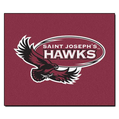5' x 6' Brown NCAA St. Joseph's University Hawks Tailgater Mat Outdoor Area Rug - IMAGE 1