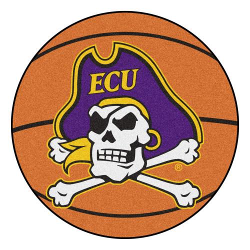 "27"" Orange and Purple NCAA East Carolina University Basketball Mat - IMAGE 1"