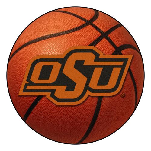 "27"" Orange and Black NCAA Oklahoma State University Cowboys Basketball Mat - IMAGE 1"