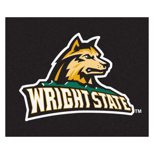 "59.5"" x 71"" Black NCAA Wright State University Raiders Tailgater Outdoor Mat - IMAGE 1"