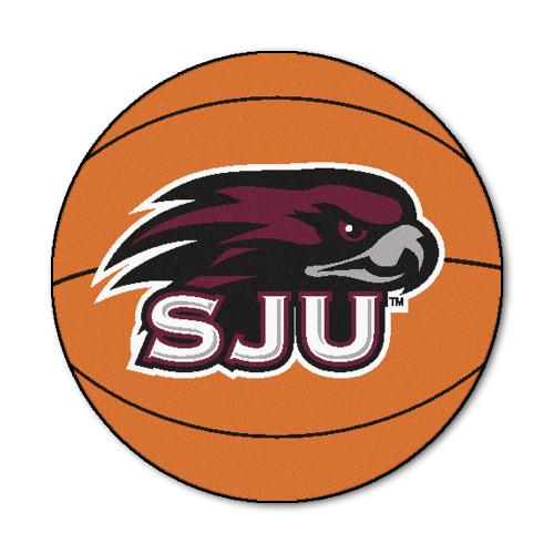 "27"" Orange NCAA St. Joseph's University Hawks Basketball Door Mat - IMAGE 1"