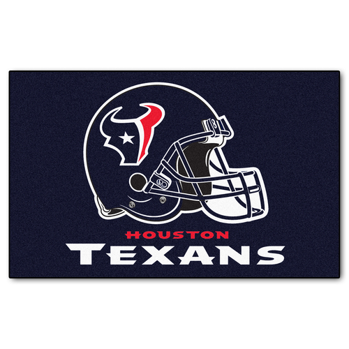 """59.5"""" x 94.5"""" Blue and White NFL Houston Texans Ulti Mat Rectangular Outdoor Area Rug - IMAGE 1"""