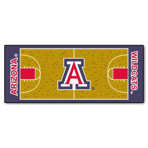 "30"" x 72"" Red and White NCAA University of Arizona Wildcats Basketball Non-Skid Mat Area Rug Runner - IMAGE 1"