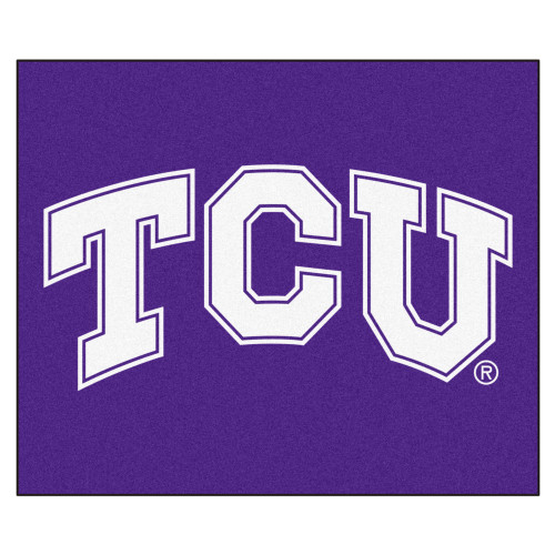 """59.5"""" x 71"""" Purple NCAA Texas Christian University Horned Frogs Tailgater Mat Outdoor Area Rug - IMAGE 1"""