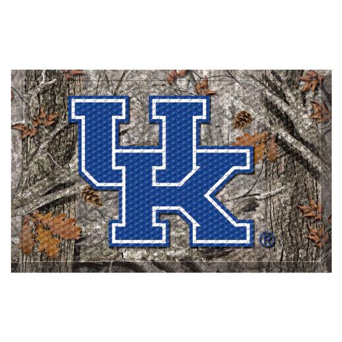 """19"""" x 30"""" Gray and Blue NCAA University of Kentucky Wildcats Scraper Rectangular Door Mat - IMAGE 1"""