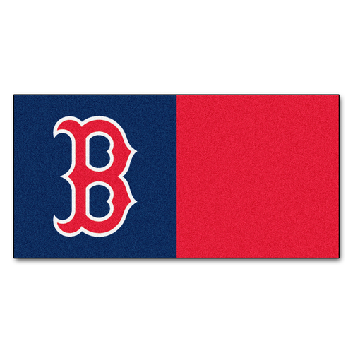 """20pc Blue and Red MLB Boston Red Sox Team Carpet Tile Set 18"""" x 18"""" - IMAGE 1"""