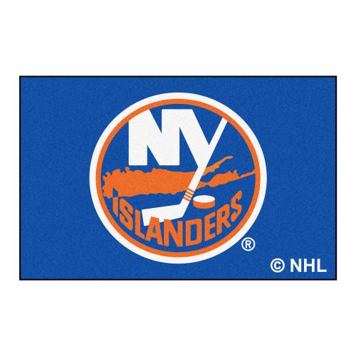 "19"" x 30"" Blue and Red NHL Islanders Starter Mat Rectangular Area Rug - IMAGE 1"