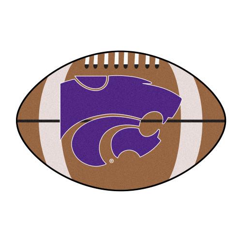 "20.5"" x 32.5"" Brown and Blue NCAA Kansas State University Wildcats Mat - IMAGE 1"