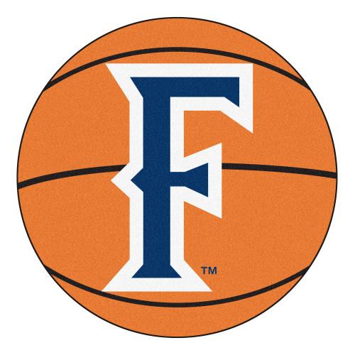 "27"" Orange and Blue NCAA Cal State Fullerton Titans Basketball Mat Area Rug - IMAGE 1"