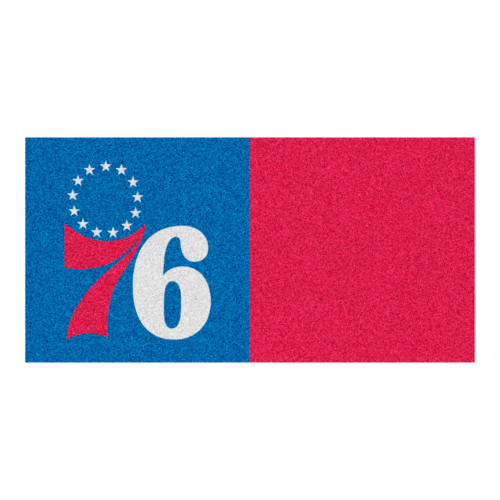 """20pc Blue and Red NBA Philadelphia 76ers Square Carpet Tiles Set 18"""" x 18"""" - IMAGE 1"""