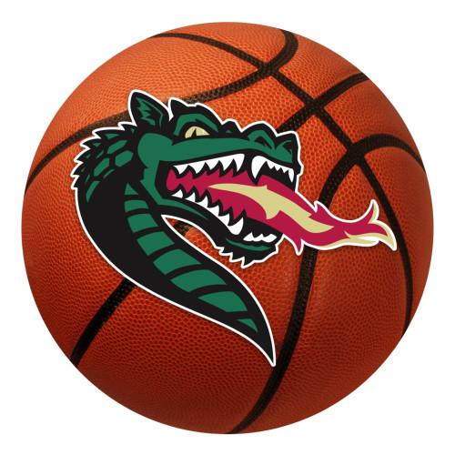 "27"" Red and Green NCAA University of Alabama at Birmingham Blazers Basketball Shaped Mat Area Rug - IMAGE 1"