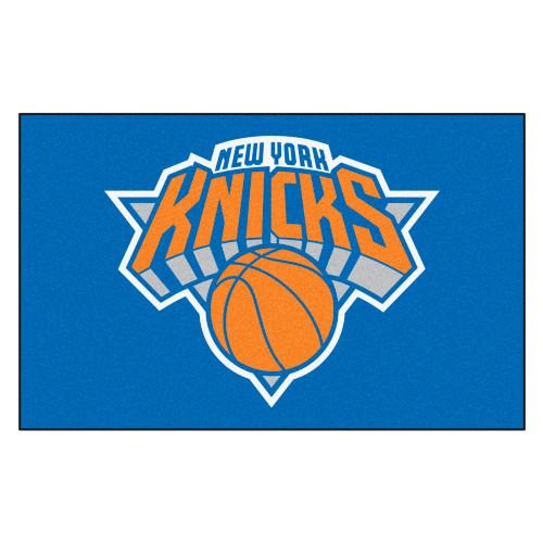 "59.5"" x 94.5"" Blue and Orange NBA New York Knicks Ulti-Mat Rectangular Outdoor Area Rug - IMAGE 1"