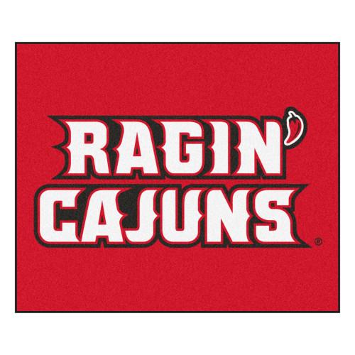 "59.5"" x 71"" White NCAA University of Louisiana-Lafayette Ragin Cajuns Tailgater Mat Outdoor Area Rug - IMAGE 1"