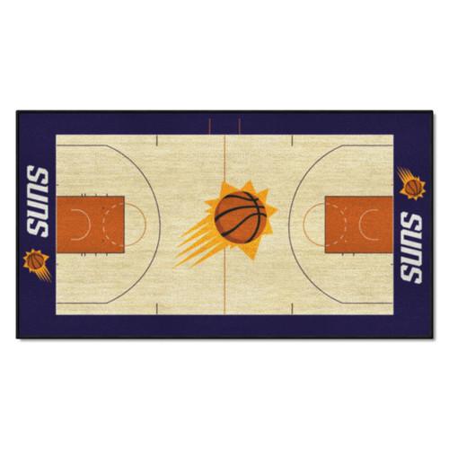 "24"" x 44"" Beige and Orange NBA Phoenix Suns Court Rug Runner - IMAGE 1"