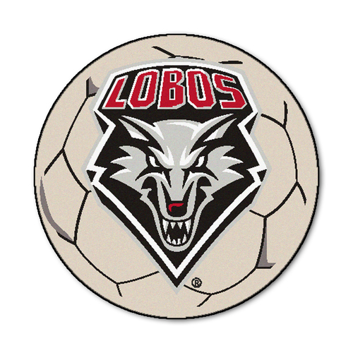 """27"""" Ivory and Red NCAA University of New Mexico Round Mat Area Rug - IMAGE 1"""