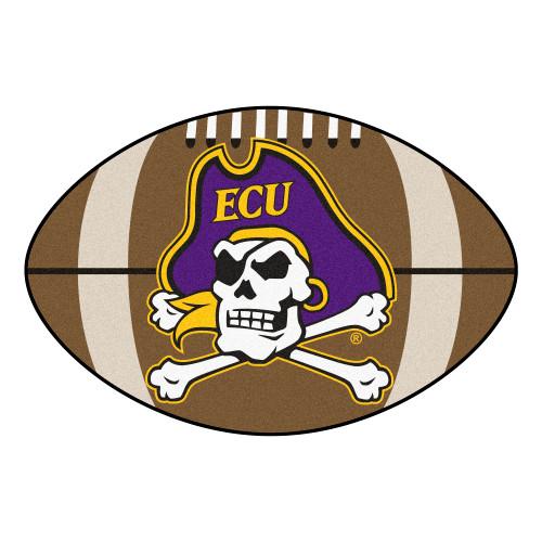 "20.5"" x 32.5"" Brown and Purple NCAA East Carolina University Pirates Football Mat - IMAGE 1"
