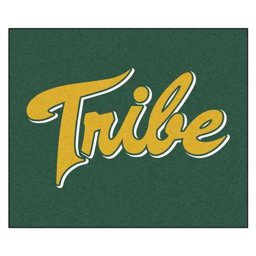 """59.5"""" x 71"""" Green and Yellow NCAA William and Mary Tribe Rectangular Tailgater Mat Outdoor Area Rug - IMAGE 1"""