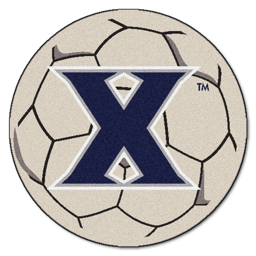"""27"""" Gray and Blue NCAA Xavier University Musketeers Soccer Ball Mat - IMAGE 1"""