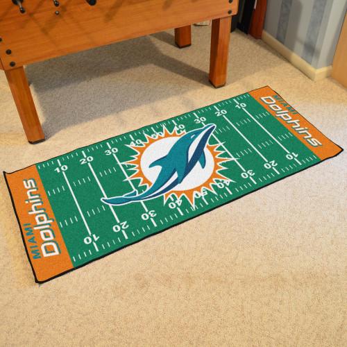 5fa60b2a NFL Miami Dolphins Football Field Runner Mat Area Rug - 10637545