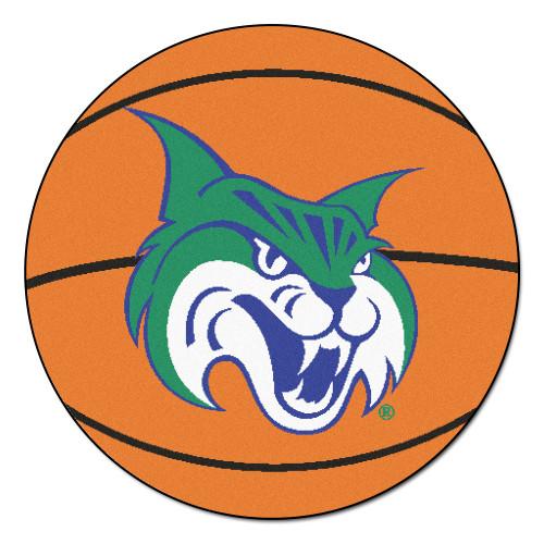 "27"" Orange and Green NCAA Georgia College Bobcats Basketball Shaped Area Rug - IMAGE 1"