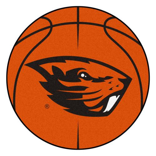 "27"" Orange NCAA Oregon State University Beavers Basketball Mat - IMAGE 1"