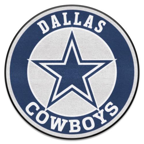 "27"" Gray and Blue NFL Dallas Cowboys Roundel Door Mat - IMAGE 1"