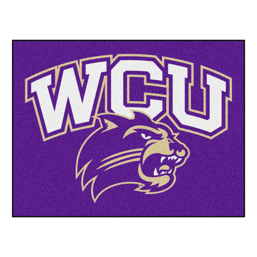 "33.75"" x 42.5"" Purple NCAA Western Carolina University Catamounts All-Star Mat Outdoor Area Rug - IMAGE 1"