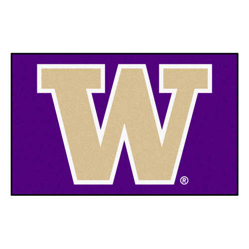 "59.5"" x 94.5"" Purple and White NCAA University of Washington Huskies Ulti-Mat Area Rug - IMAGE 1"