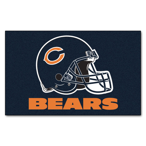 """59.5"""" x 94.5"""" Blue and White NFL Chicago Bears Ulti Mat Rectangular Outdoor Area Rug - IMAGE 1"""