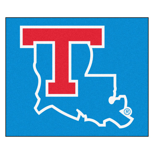 """59.5"""" x 71"""" Blue and Red NCAA Louisiana Tech University Tigers Tailgater Mat Outdoor Area Rug - IMAGE 1"""
