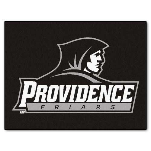 """33.75"""" x 42.5"""" Black NCAA Providence College Friars All Star Non-Skid Mat Rectangular Area Rug - IMAGE 1"""