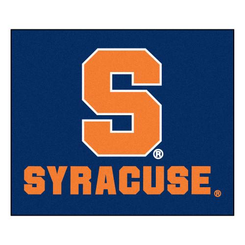 """59.5"""" x 71"""" Blue NCAA Syracuse University Orange Rectangular Tailgater Mat - IMAGE 1"""