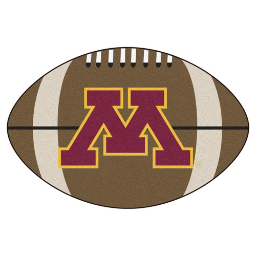 "32.5""x20.5"" NCAA University of Minnesota Golden Gophers Football Shaped Door Mat - IMAGE 1"