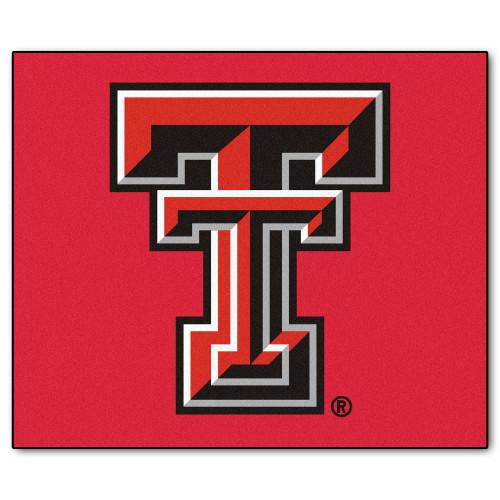 "59.5"" x 71"" Black NCAA Texas Tech Red Raiders Rectangular Tailgater Mat Outdoor Area Rug - IMAGE 1"